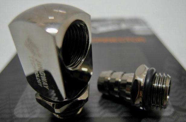 Фитинг переходник Jingway JW CS 590FBS L connector Shiny Black