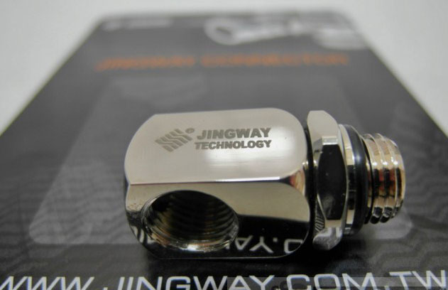 Фитинг переходник Jingway JW CS 590FS L connector Chrome Silver